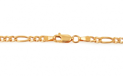 3mm/0.12'' Gold Figaro Chain
