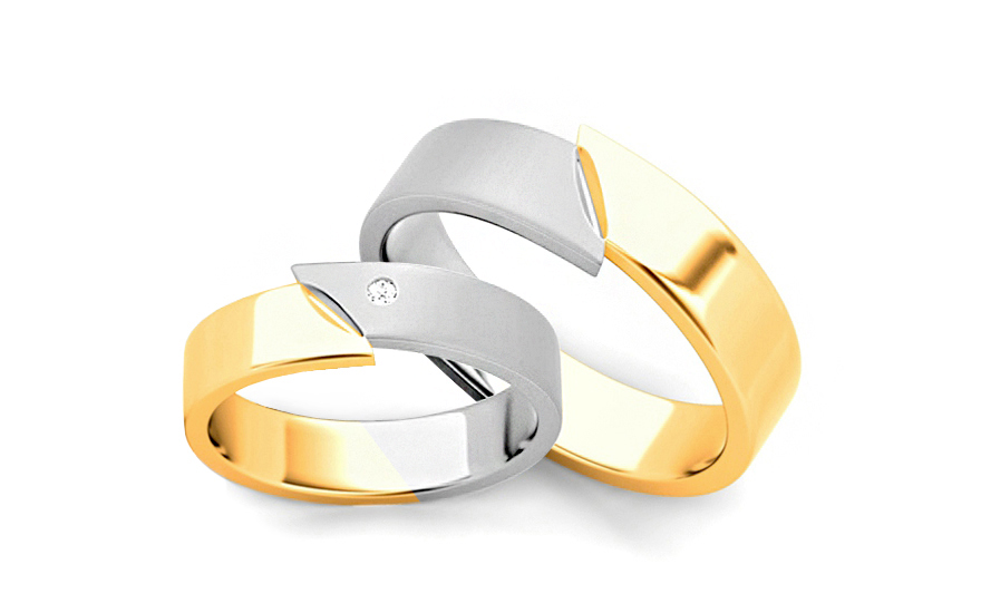 4.5mm/0.18'' Zircon Wedding Bands - STOB033-4-5
