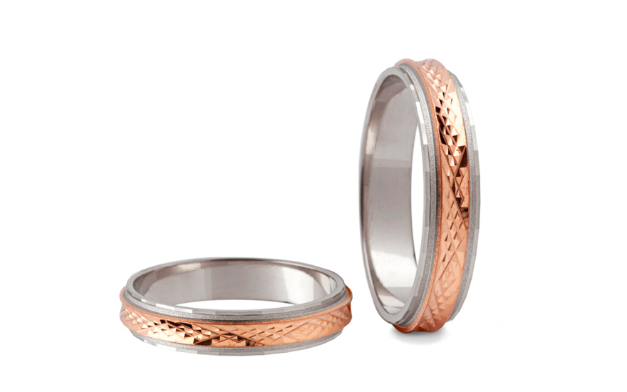 4mm 0 16 Two Tone Wedding Bands Stob009 4r Gjewelry Co Uk