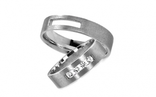 4mm/0.16'' Zircon Wedding Bands - RYOB016