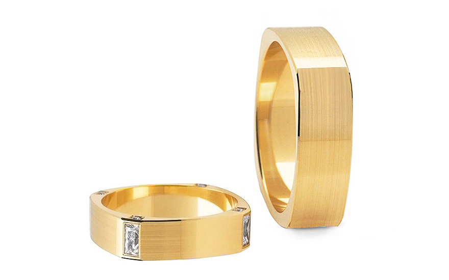 5.4mm/0.21'' Zircon Wedding Bands - STOB195