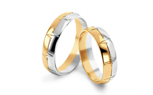 5mm/0.20'' Engraved Wedding Bands - STOB257