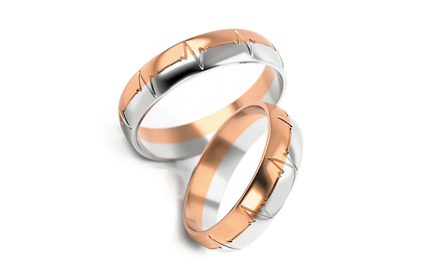 5mm/0.20'' Engraved Wedding Bands - STOB257R