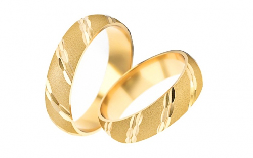 5mm/0.20'' Sanded Wedding Bands - STOB014-5