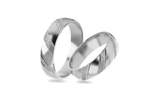 5mm/0.20'' Sanded Wedding Bands - STOB021-5A