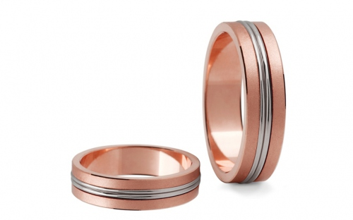 5mm/0.20'' Two Tone Wedding Bands - STOB148R