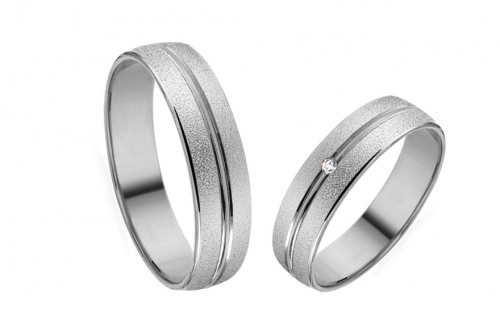 5mm/0.20'' White Gold Wedding Bands - RYOB029