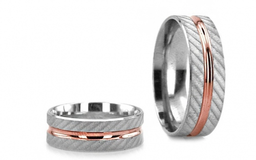 5mm/0.20'' Yellow and White Gold Wedding Bands - RYOB220