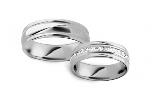 6mm/0.24'' Cubic Zirconia Wedding Bands - STOB083A