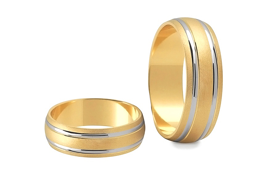 6mm/0.24'' Matte Wedding Bands - STOB049-6