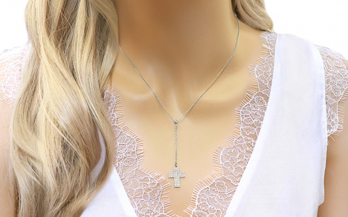 Gold chain with a cross pendant - IZ7754