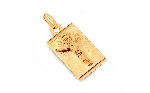 A gold pendant with torture on the plate - IZ4592