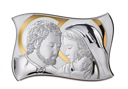 Silver plated picture Holy Family