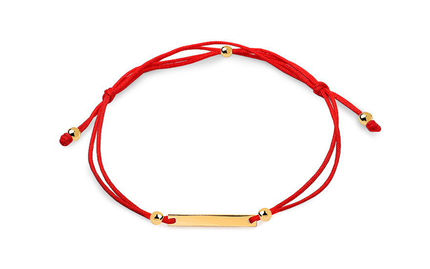 Anti-cut bracelet with gold plate - IZ12066