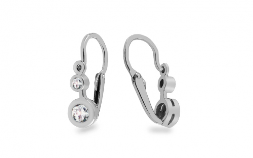 Baby Girl Gold Cubic Zirconia Earrings - 1-339-0115Z