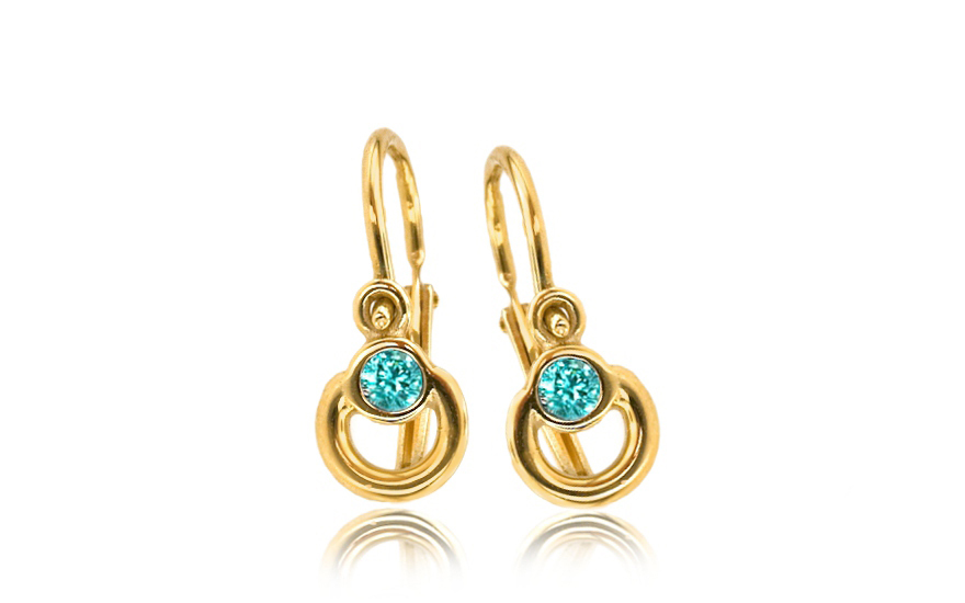 Baby Girl\'s Gold Earrings, for children (1-236-0529T) | gJewelry.co.uk