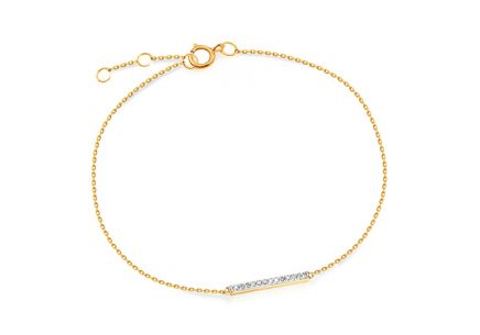 Gold Brilliant Cut Accent Bracelet 0.030 ct