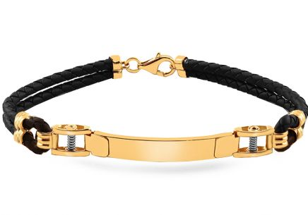 Gold two-tone rubber bracelet