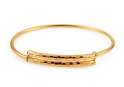 Gold plated silver bangle bracelet