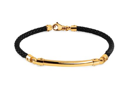 Golden bracelet with rubber