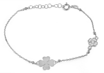 925 Sterling Silver bracelet Lucky Clover Leafs