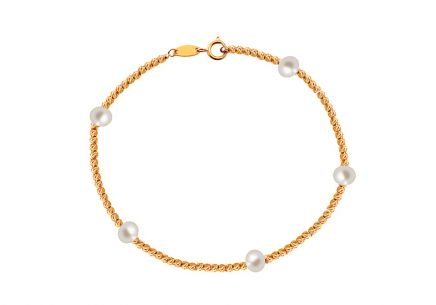 Bracelet with pearls iGold 4.5 mm
