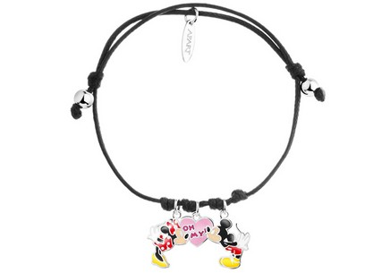 Children's  bracelet Sterling silver Mickey and Minnie