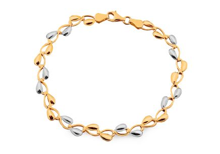 Elegant two-tone gold bracelet