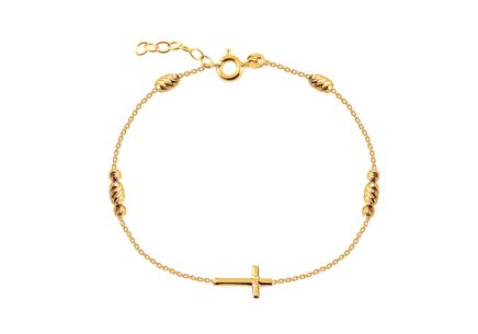 Gold bracelet with cross