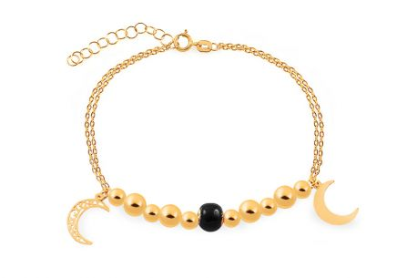 Gold Palmyra bracelet with moon