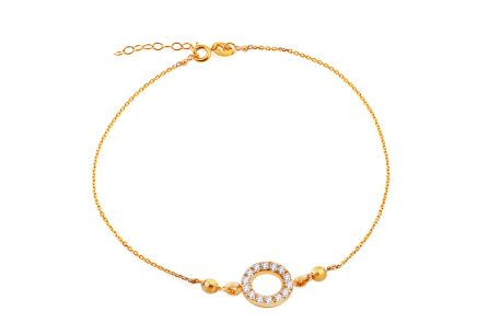 Gold-plated 925Sterling Silver bracelet decorated with cubic zirconia