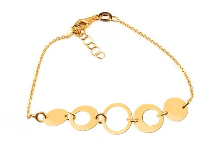 Gold Plated Sterling Silver Bbracelet Wheels