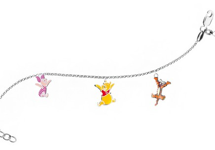 Sterling Silver bracelet children's Winnie the Pooh and Friends