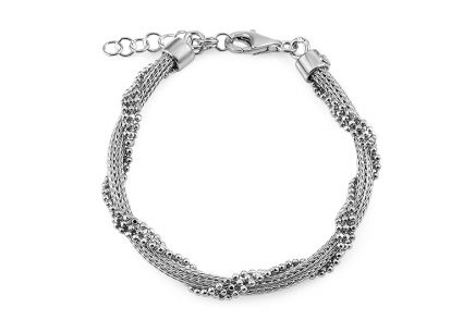 Silver bracelet with ball pendants