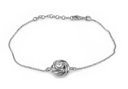 925Sterling Silver bracelet with cubic zirconia