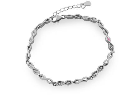 Sterling Silver bracelet with zirconia Infinity