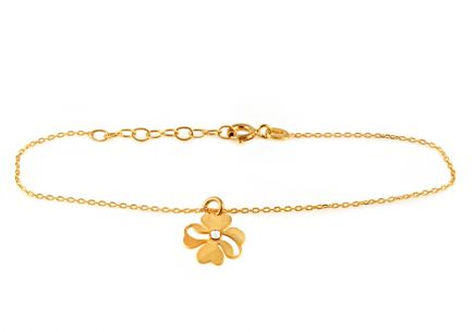 Gold-plate 925Sterling Silver bracelet with flower design