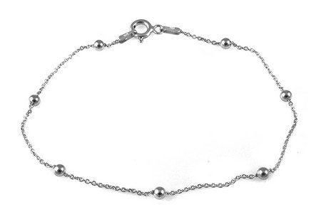 Women's Sterling Silver Bracelet with Balls
