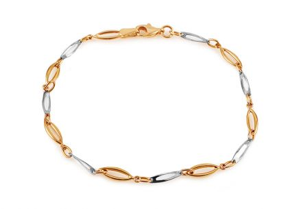 Women's Two Tone Gold Bracelet