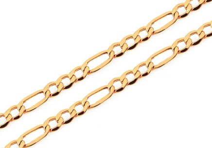 5mm/0.20'' Gold Figaro Chain