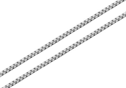 Silver Cube chain - 1.5 mm