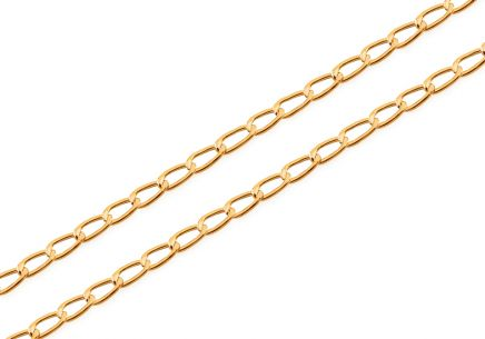 2mm/0.08'' Gold Curb Chain