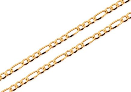 3,5mm/0.12'' Gold Figaro Chain