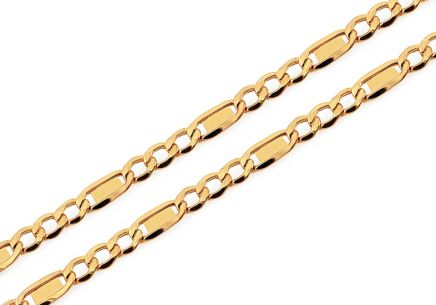 4,5mm/0.16'' Gold Figaro Chain