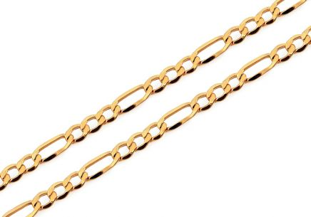 4mm/0.16'' Gold Figaro Chain