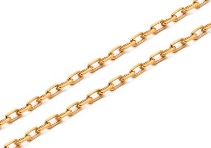 Gold chain Anker 3 mm
