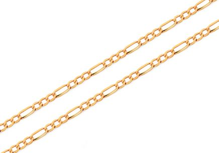 Gold chain Figaro 1.8 mm