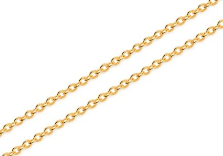 Gold chain Rolo 1 mm
