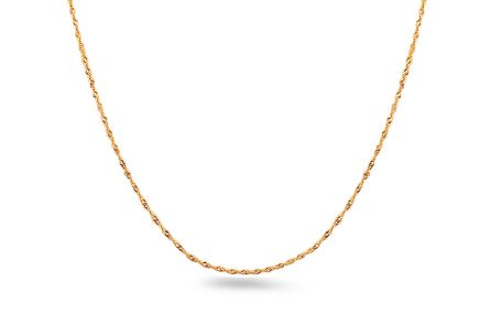 "1,3mm/0.039'' Gold Chain ""Singapore"""