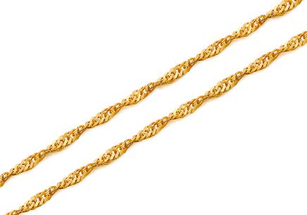 "2mm/0.08'' Gold Chain ""Singapore"""